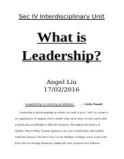 What is Leadership (History&Math)