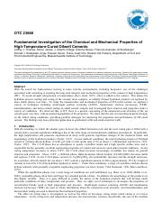 2012_OTC-23668-MS_Fundamental Investigation of the Chemical and Mechanical Properties of High-Temper