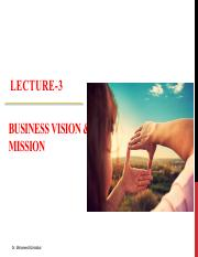 Lecture-3 Business Vision & Mission