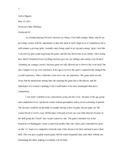 Personal Essay As A Female in Sports