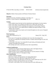 Resume (Resume/Cover Letter Project)