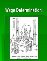 Topic 3 - Wage Determination