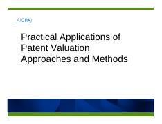 reilly_patent_valuation_methods_aicpa_110711