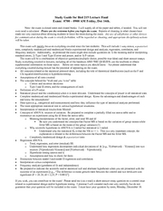 Study Guide for Biol 215 lecture final Fall 07