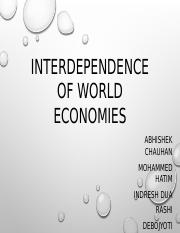 Interdependence of world economies