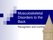1. Musculoskeletal Disorders to the Back