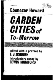 Howard The Garden Cities of To-Morrow