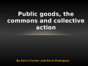 Public goods, the commons and collective action presentation