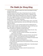 The Battle for Hong King