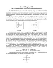 an experiment analyzing the synthesis of optical tris cobalt enantiomers Clays and clay minerals, vol 40, no 3, 359-361, 1992 separation of isomers of cobalt(iii) complexes by liquid chromatography on a column packed with a.