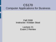 Lecture 21 - JS Review