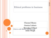Ethical problems in business