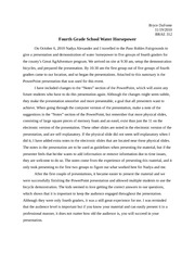 fourth grade hp presentation research paper