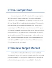 CTI vs Competition