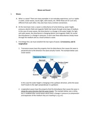 Chapter 14 notes Waves and Sound