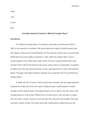 1A feminist analysis of gender in Buffy the Vampire Slayer