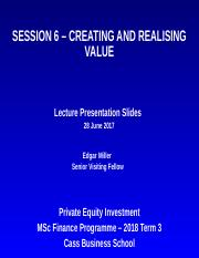 Session 6 - Creating  Realising Value - PEI Lecture Presentation Slides (27 June 18).ppt
