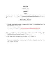 Solutions for HW Chapter 7 2012