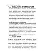 Bab Iii Kesimpulan Dan Saran 31 Kesimpulan Hak Asasi Manusia Adalah Hak Hak Course Hero