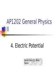 4_Electric Potential