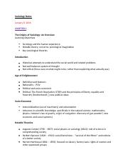 Sociology Leacture Notes - Part 1