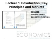 Lecture 01 - Introduction to Key Principles and Markets