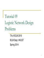 Tutorial09 Logistic Network Design Problems.pdf