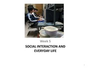 Social Interaction(week 5)