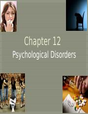 Chapter 12 Psychological Disorders Notes Complete