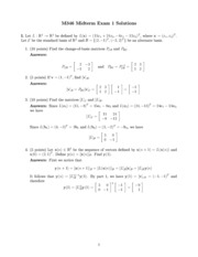 M 346 - Fall 2011 Midterm #1 - Solutions
