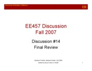 EE457_Dis14_HW8_and_FinalReview