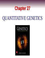 PCB3063_Chapter27-Quantitative Genetics_Handout