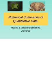 1. review numerical summaries