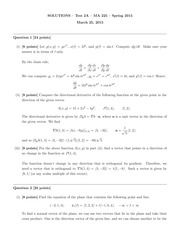 MA 225 Spring 2015 Test 2 Version A Solutions