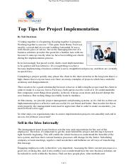 top-tips-for-project-implementation