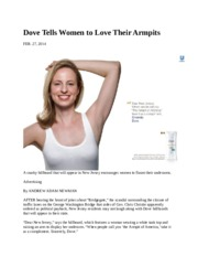 Dove Tells Women to Love Their Armpits