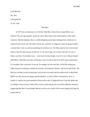 mini essay-mad max