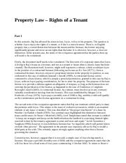 Property Law – Rights of a Tenant.docx