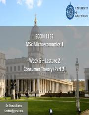 Econ1152 - Week 5 - Lecture 2 - Consumer Theory (part 2).pdf