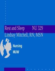 Rest & Sleep (LM).ppt