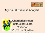Diet and Exercise Analysis Presentation (Cher Keen)
