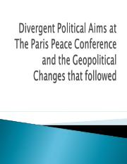 Geopolitical changes caused by Paris peace conferences new.ppt
