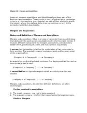 Chapter 10 – Mergers and Acquisitions.docx