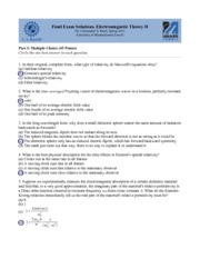 Final Exam Solutions Spring 2012