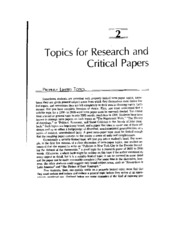eng 213 topics for research and critical papers