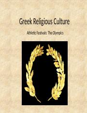 HIS 243 PowerPoint - Greek Religious Culture