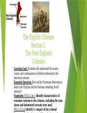 Chapter 3 Section 2 The New England Colonies.pptx