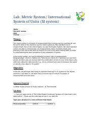 1 - Metric (SI) system- Modified (1).docx