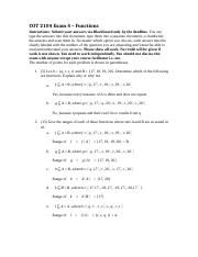 COT 2104 Exam 4 – Functions
