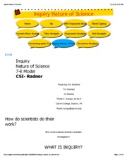 Inquiry Nature of Science